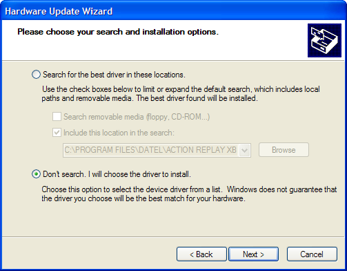 You need to convince windows that the driver you re selecting is