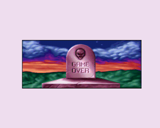 Behind the Iron Gate amiga game over screen
