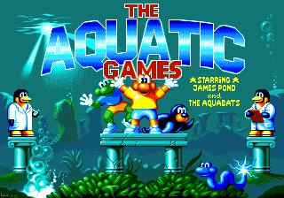 The Aquatic Games Starring James Pond and the Aquabats Amiga Title Screen