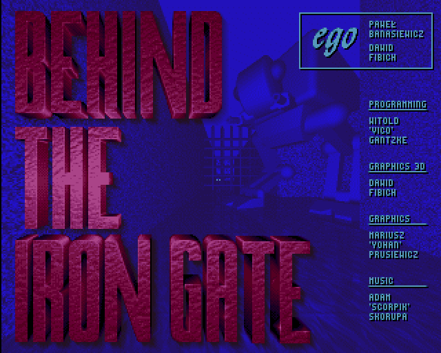 Behind the Iron Gate title screen