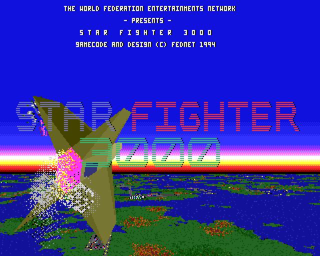 Acorn Archimedes StarFighter 3000 Title Screen