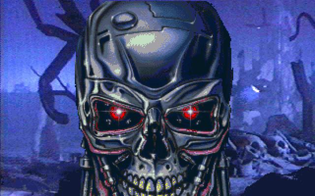 Terminator chrome metal skull face art