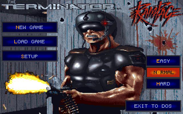 The Terminator: Rampage title screen