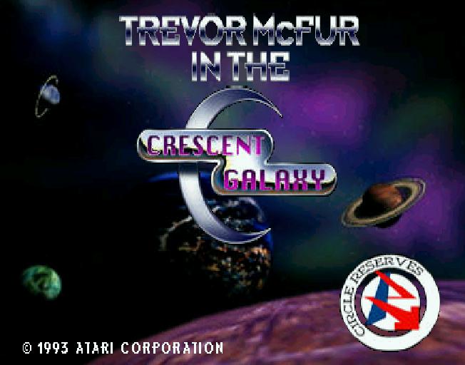 Trevor McFur in the Crescent Galaxy title screen jaguar