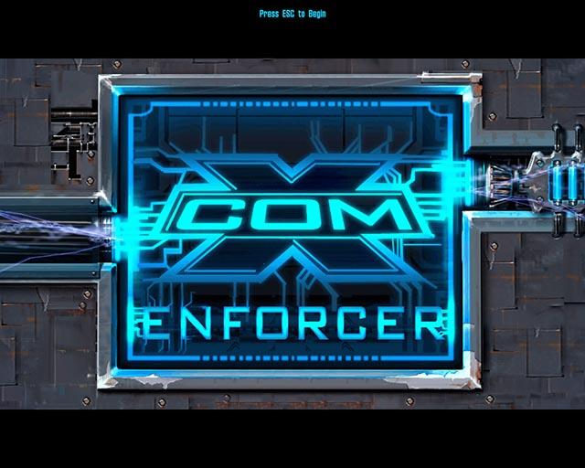 X-Com Enforcer Title Screen